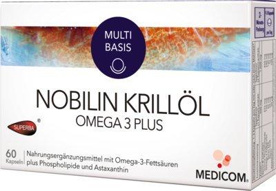 Nobilin Krillöl Omega 3 P 60 stk (Omega-3-plus)