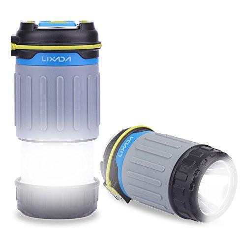 Lixada 3W 330LM 1 LED Campeggio Lanterna Ricaricabile Luce 3 Modi di Illuminazione Banca di Potere con USB Porto Magnete Ultra Luminoso Tenda Luce Portatile