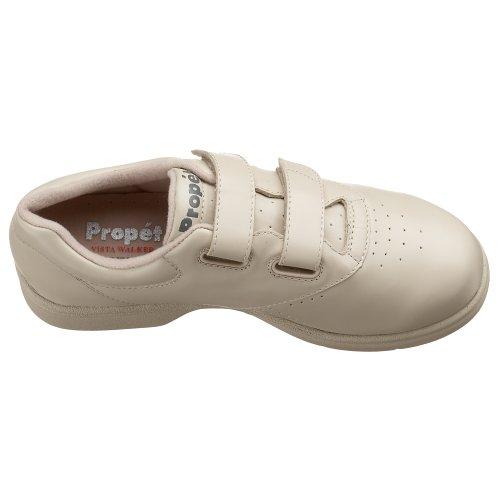 Propet Vista Walker Strap Cuir Chaussure de Marche Bone