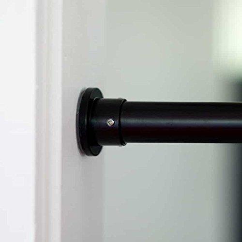 Bastone Per Tende A Pressione.Roomdividersnow Bastoni Per Tende A Pressione Premium 100cm 210cm Nero