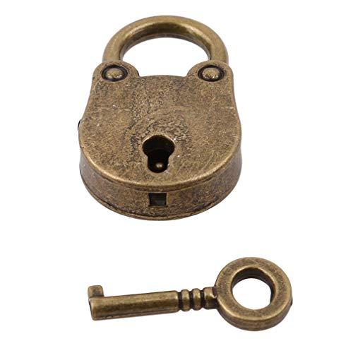 Ogquaton Hochwertige Vorhängeschloss-Schlüsselkasten-Verschluss-Minischlüssel-Zink-Legierungs-Retro Art-antike Dekoration-Nette Zusatz-Haupthardware-Dekoration