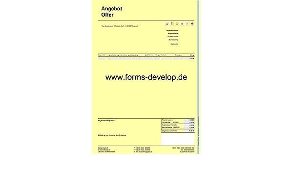Angebotserstellung Angebotsschreiben Angebot Pdf A4 H Standard