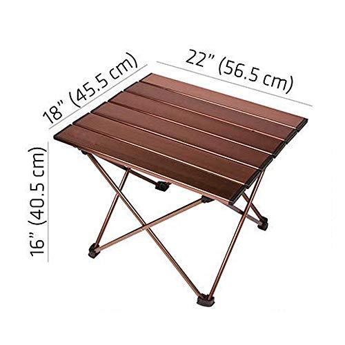 PIANAI PA® Aluminium Falttisch Campingtisch klappbar Gartentisch Klapptisch Camping Tisch Aluminium ideal Reisetisch Falttisch für Camping Garten Picknick & Grillen,56.5X45.5X40.5