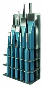 Peddinghaus 6633120000 Jeu d'accessoires 14 pièces Pointeau 3 x 125 mm 4 chasse-goupille 2/3/5/6 mm 4 poinçons 5 burins plats (Import Allemagne)