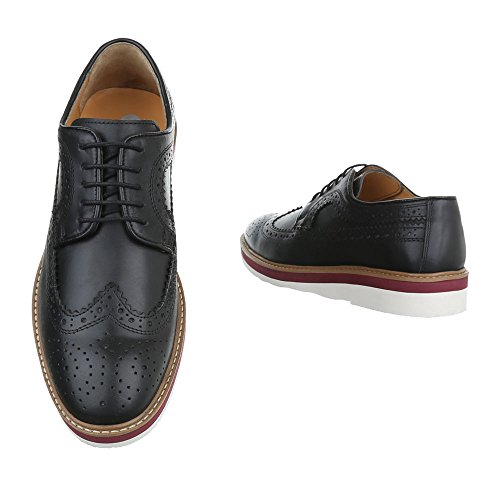 Stringate Oxford Stringate Stringate Ital-design Mocassini Nere
