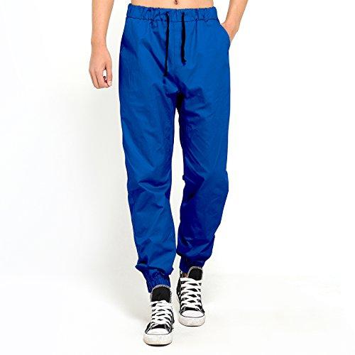 Homme Baggy Pantalon de Loisirs du Sport en Coton Taille Elastique avec Cordon de Serrage Bleu Marine