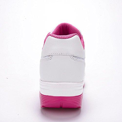 Peggie House Fitness Fitness Scarpe da ginnastica donna Womens Ladies Girls Sneakers Comodo Air Shock Absorbing Trainers Respirabile Mesh Walk Outdoor Casual Scarpe bianco & rosa