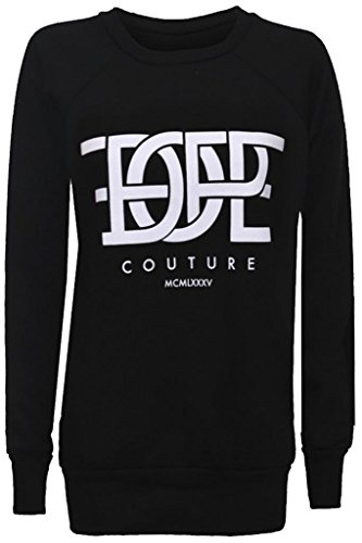 Home ware outlet - Sweat-shirt - Pull - Manches Longues - Femme noir * taille unique Dope Couture Black