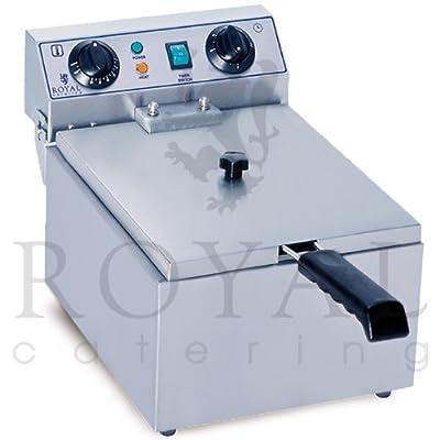Royal Catering - RCTF-10EH - Friteuse électrique de 1x10 litres - 100 % acier inox - 3,2 kW - Minuteur de Royal Catering