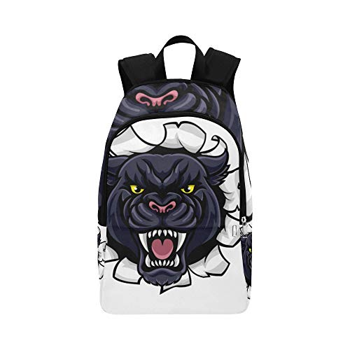 Schwarzer Jaguar-Panther-schöne Augen-beiläufige Daypack-Reisetasche College-Schulrucksack für Männer und Frauen -