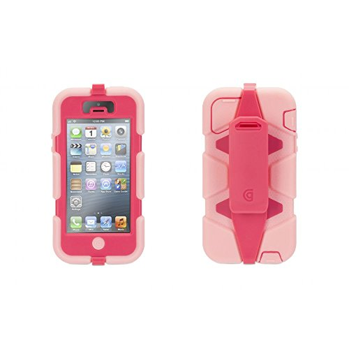 Griffin GB36285 Survivor AllTerrain Schutzhülle für Apple iPhone 5/5S/SE rosa (5s Pink Screen Protector)