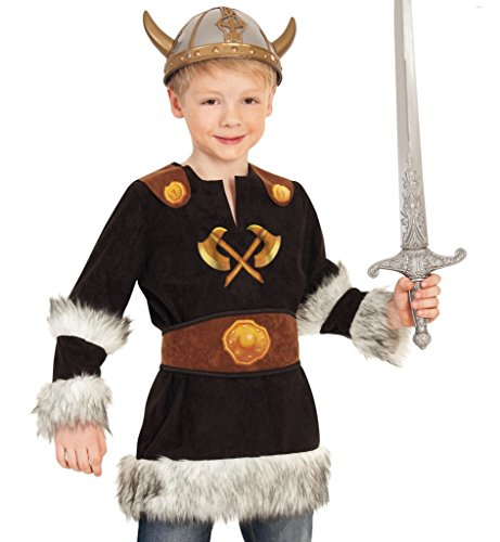 KarnevalsTeufel Kinderkostüm Wikinger Barbar Nordmensch Krieger Eroberer Germane Kostüm für Kinder Gr 104 - 128 (116) (Wikinger Krieger Kinder Kostüm)