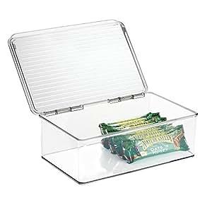 mdesign aufbewahrungsbox mit deckel f r den k hlschrank 3 liter frischhaltedose und. Black Bedroom Furniture Sets. Home Design Ideas