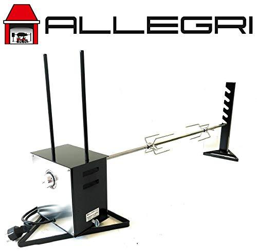 Girarrosto ALLEGRI in acciaio inox professionale elettrico gigante con velocità variabile portata di 45 KG