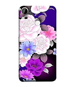 PrintVisa Designer Back Case Cover for HTC Desire 10 Pro (Decoration Ornamental Watercolor Elegance Botanical Repeating Beautiful Abstract)