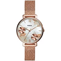 Fossil Jacqueline Three-Hand Rose Gold-Tone Steel Watch For Women