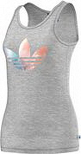 adidas Fading Logo Débardeur Femme gris chiné rose