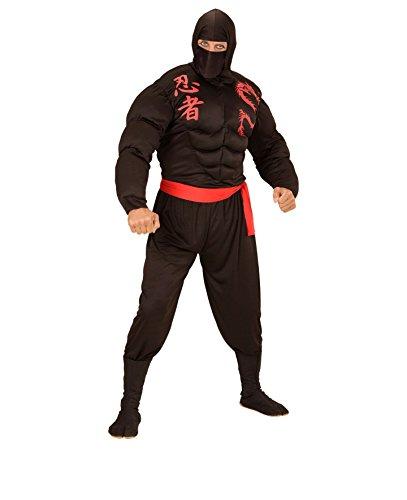 KOSTÜM - SUPER NINJA - Größe 54 (XL), asiatischer japanischer Geheimbund Shinobi Held Hero Kampfkunst
