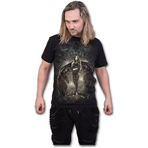 Spiral Dark Angel T - Shirt Engel Elfe Fairy Rose Gothic Black