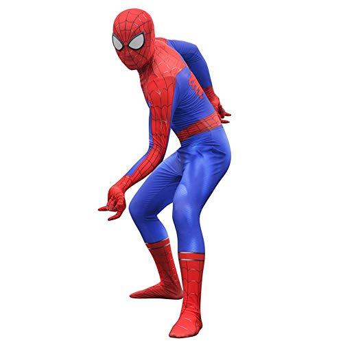 RNGNBKLS Erwachsene Kinder Spiderman Heimkehr Kostüm Halloween Cosplay Geburtstag Party Verkleidung Spandex Overall Anzug,Siamese-XXXL