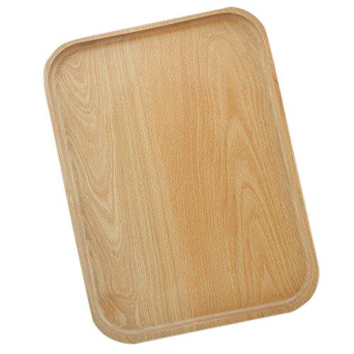 Sharplace Bac à Servir en Bois Plateaux Petit Déjeuner Plat Table Décoratif Thé Café - D 25 × 17cm