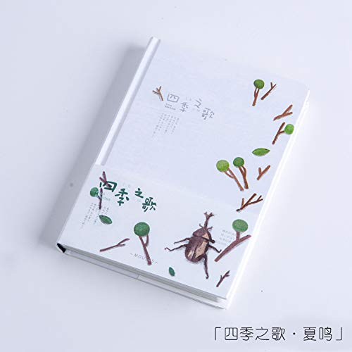 YPGFL Notizbuch Four Seasons Song Series Notizbuch A5 Farbseiten Hardcover Notizbuch Tagebuch 1 Stück, Sommer