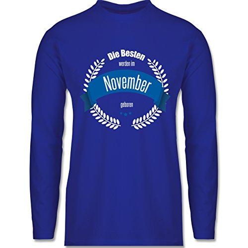 Geburtstag - Die Besten werden im November geboren - Longsleeve / langärmeliges T-Shirt für Herren Royalblau