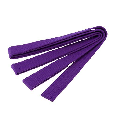 perfk Kampfsportgürtel Gürtel für Taekwondo, Karate, Aikido, Judo und so weiter, 8 Farben wählbar - Lila -