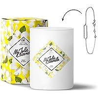 MY JOLIE CANDLE • Bougie Parfumée avec Bijou Surprise à l'Intérieur • Cadeau : Bracelet • Parfum Monoï de Tahiti • Cire Naturelle 100% Végétale