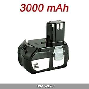 Batterie pour outils Hitachi 18V 3000 mAh Li-Ion BCL1815 EBM1830 W