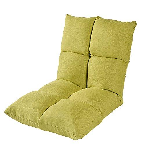 ZHANGRONG- Chaise pliable de plancher avec le sofa de salon paresseux de coussin épais de dossier réglable -Tabouret de canapé (Couleur : Vert)