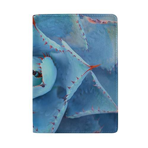 Nahaufnahme von schönen Blumen blockieren Print Passinhabers Cover Case Reisegepäck Passport Wallet Kartenhalter aus Leder für Männer, Frauen, Kinder, Familie (Tequila-agave, Eine Pflanze)