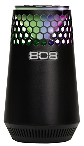 808audio Hex Light SP 300 | Mobiler Wireless Stereo Bluetooth-Lautsprecher mit langer Akku-Laufzeit | Multi-LED-Lightshow, AUX, Equalizer & Bassboost - schwarz
