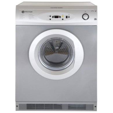 White Knight C86A7S 7kg Freestanding Vented Tumble Dryer - Silver