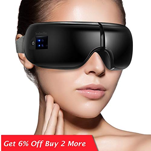 Wireless Eye Massager Air Compression Augenmassage mit Musik Smart Eye Massage beheizte Brille Anti-Falten-Augenpflege Ancient vine green (Color : White)