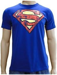 Superman Logo T-Shirt, Superhelden Motiv, Comic Held, lässiger Retro Print