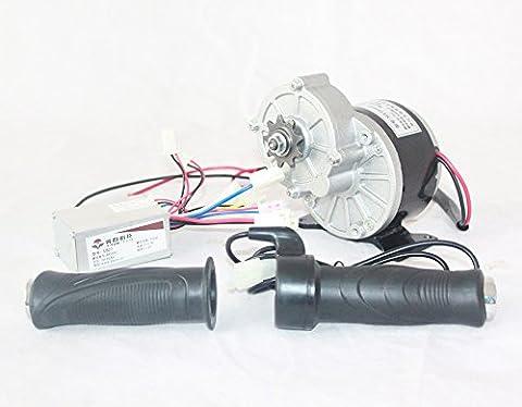 24V 250W Moteur DC électrique + Contrôleur + Throttle Electric Bike Kit de conversion de moteur brossé Scooter électrique Kit moteur (with foot bracket)