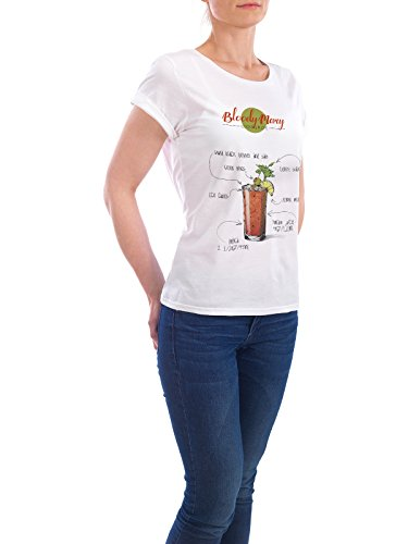 "Design T-Shirt Frauen Earth Positive ""Cocktail Bloody Mary"" - stylisches Shirt Essen & Trinken von Arman Akopyan Weiß"