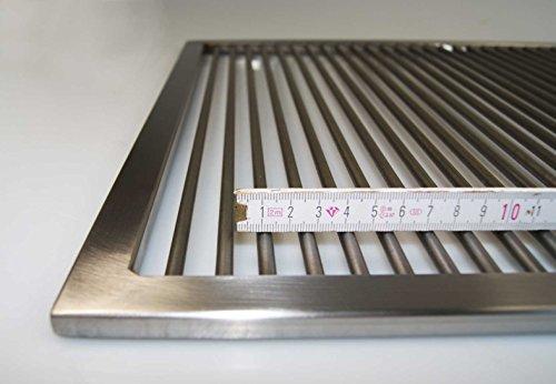 Edelstahl Grillrost 60,5 x 44,5 cm !! nur 9 mm lichter Stababstand !! für WEBER SPIRIT E 310 320 330 (Grill-licht-magnetische)