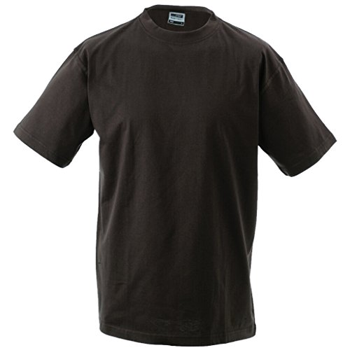 JAMES & NICHOLSON T-shirt comfort in single jersey 180g Brown