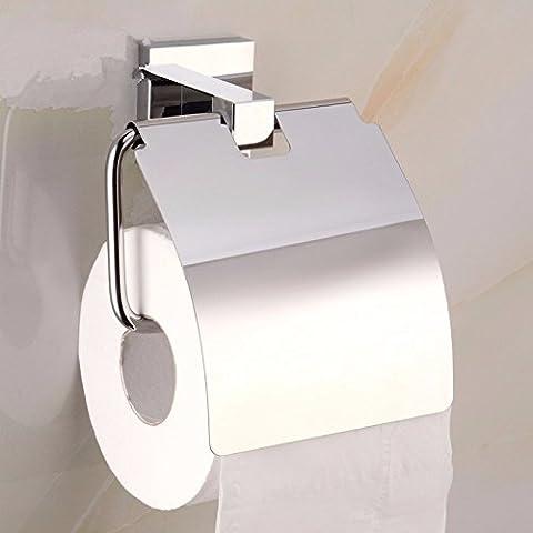 Pingofm les salles de bains sont une serviette en papier de chasse d'eau WC bac à papier rouleau de papier toilette Rouleau de papier toilette est plein Cintre en cuivre Non-stainless Supports