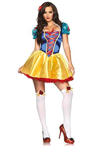 Leg Avenue 85516 - Fairytale Snow White Kostüm, Größe S/M  (EUR 36-38) (Snow White Prinz Kostüm)