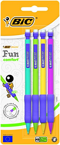 BIC Matic Fun Comfort Porte-Mines - 0,7 mm HB, Blister de 4