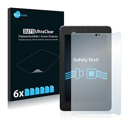 Savvies Schutzfolie kompatibel mit Asus FonePad 7 ME372CG (6 Stück) - ultraklare Bildschirmschutz-Folie