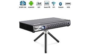 """JOEAIS Mini Proiettore, WiFi 3D DLP 200ANSI Portatile Tasca Videoproiettore, 300"""" Immagine Casa Cinema BT4.0 Supporta 1080P 4K HDMI USB Compatibile con Android, iPhone, PC, TV Stick, Console Da Gioco"""