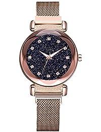 Reloj De Pulsera Casual|Starry Sky Mosaic Diamond Quartz Belt Magnetic Buckle - Reloj para