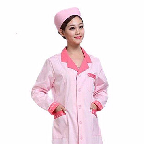 Krankenschwestern Station (Xuanku Community Service Station, Arbeitskleidung, Krankenschwester Kleidung, Lange Ärmel, Kleidung, Medizinische Arbeit Kleidung, Xxl, Rosa)