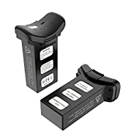 Holy Stone 2pcs 7.4V 2500mAh Rechargeable Lipo Battery and 2 USB Charging Cables for RC Quadcopter Drone HS100 Black