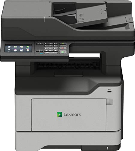Lexmark MB2546ADWE 4-in-1 Monolaser-Multifunktionsgerät (Drucker, Kopierer, Scanner, Fax, WLAN, LAN, bis zu 44 S./Min., autom. beidseitiger Druck, 10,9 cm-Touchscreen) schwarz/grau