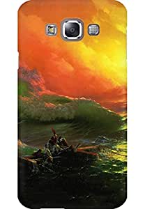 Amez Designer Printed 3D Premium high Quality Back case Cover for Samsung Galaxy E7 (Classic The Ninth Wave Art)